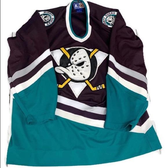 hot sales fc2b8 ba591 Vintage 90's Anaheim Mighty Ducks Starter Jersey